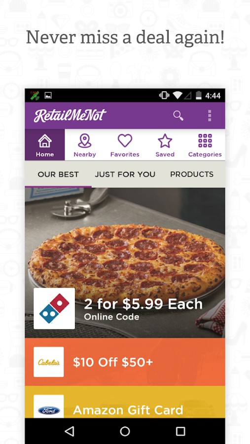 RetailMeNot Coupons, Discount - screenshot