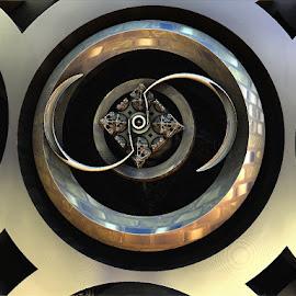Ying & yang metal by Linda Czerwinski-Scott - Illustration Abstract & Patterns ( patterns, abstract art, illustration, fractals, design )