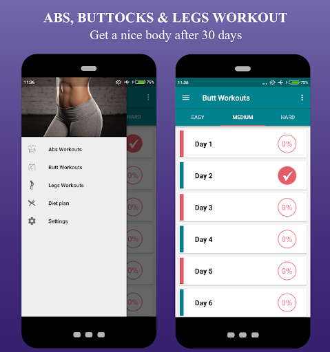 Buttocks & Legs, butt workouts, lose belly fat - screenshot