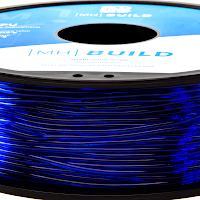 Translucent Blue MH Build Series TPU Flexible Filament - 1.75mm (1kg)