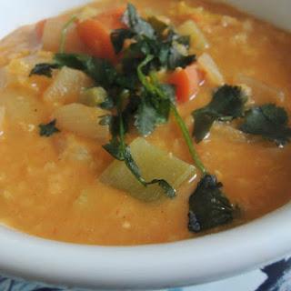 Crockpot Coconut Curry Lentil Soup [Vegan].