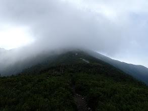 爺ヶ岳の登りに