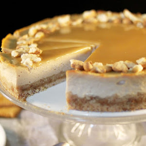 Butter Cookie Cheesecake with Salted Butter Caramel