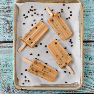 Chocolate Chip Cookie Dough Popsicles.