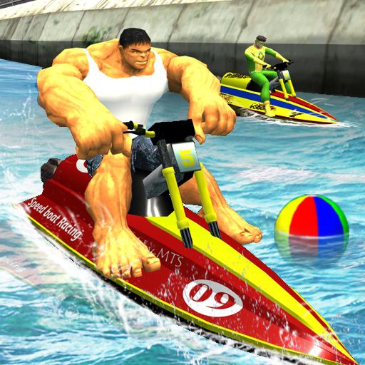 Super Hero Boat Racing