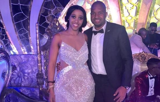 Sbahle Mpisane and partner Itumeleng Khune
