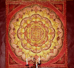 Photo: STAR Original Design - On cloth Hanging in the meditation room at  TEMENOS RETREAT CENTER McGregor, Western Cape, South Africa