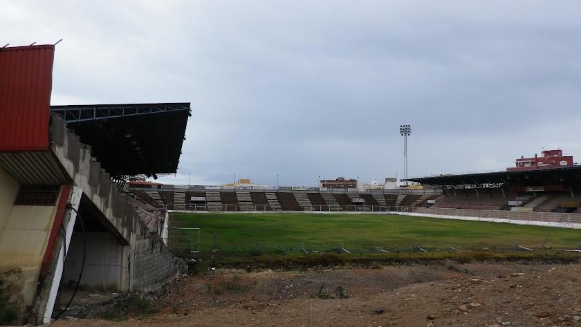 El estadio Juan Rojas fue el campo de la UD Almería hasta su traslado al estadio de los Juegos Mediterráneos.