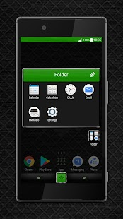 Metal Grid green Xperia™ theme - náhled