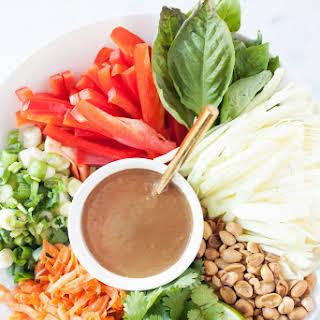 Pad Thai Salad with Peanut Tamarind Dressing.