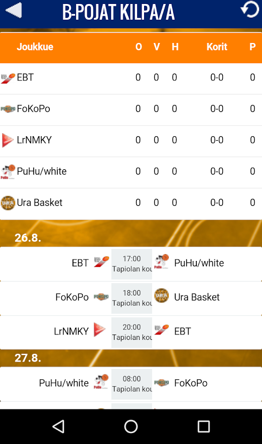 Tallink Tournament- screenshot