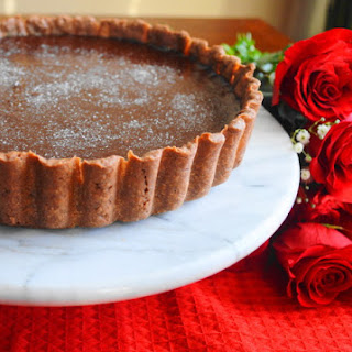 Champagne Rose Chocolate Tart
