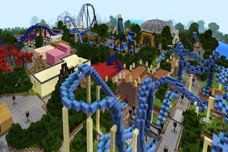 Thorpe Park map for MCPE - náhled