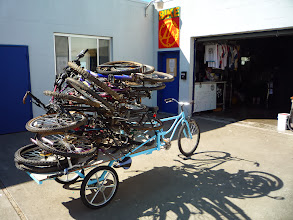 Photo: Pile of bikes from the dumpster in my neighborhood.