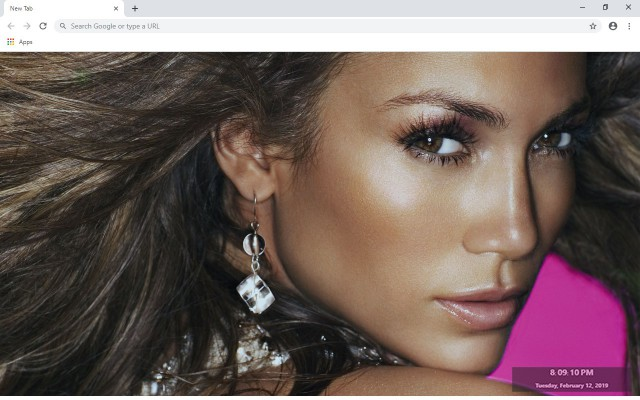 Jennifer Lopez New Tab Theme