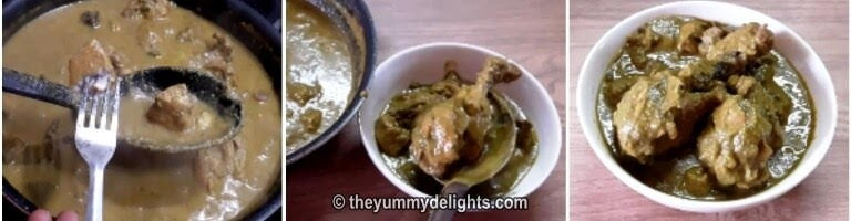 Serve Hyderabadi chicken curry with Roti/Naan