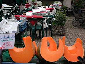 Photo: Freiburg melons and outdoor dining