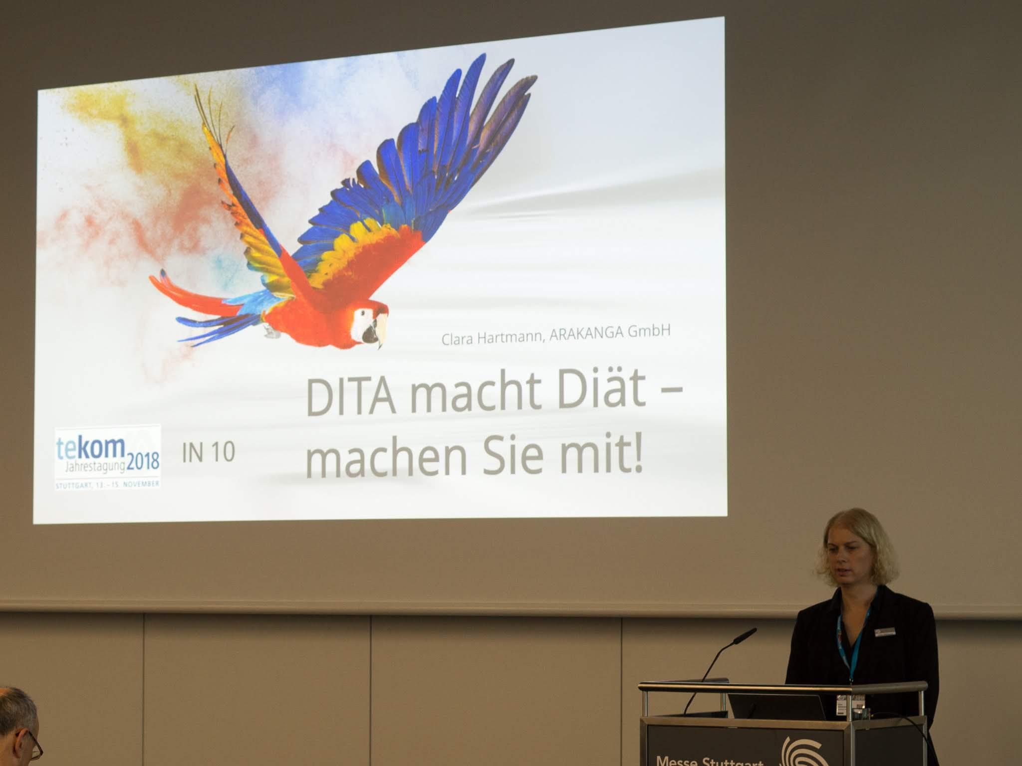 Foto aus dem Vortrag: DITA macht Diät