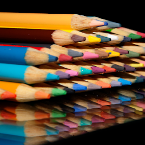 Color My World by Gary Enloe - Artistic Objects Other Objects ( orange, red, blue, green, coloring, pink, artist, pencils )