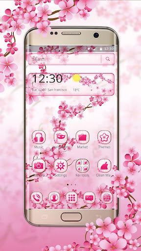 Cherry Blossom Launcher Theme 1.1.2 screenshots 3