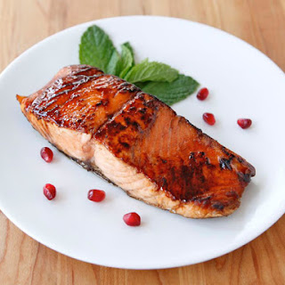 Pomegranate Molasses Salmon.