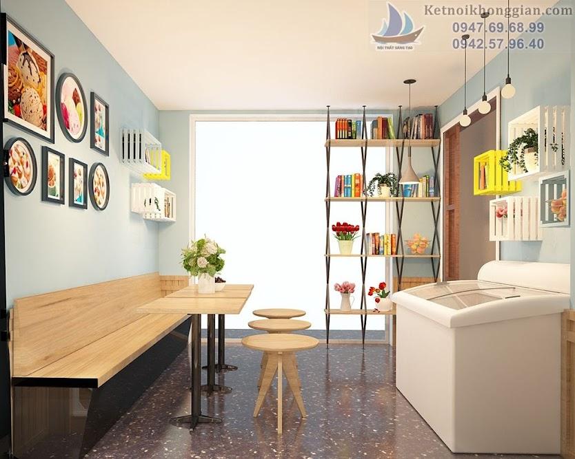 thiết kế quán cafe diện tích nhỏ đơn giản