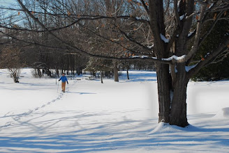 Photo: Snowshoeing at Grand Isle State Park by Linda Carlsen-Sperry.