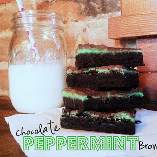 Chocolate {Peppermint} Brownies