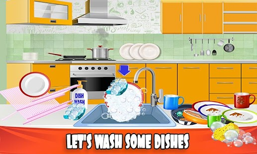House Dish Washing Kitchen Clean up: Cleaning Sim - náhled