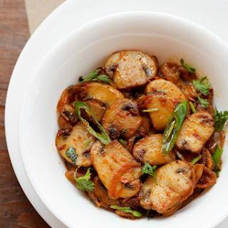 Indian Style Mushroom Stir Fry