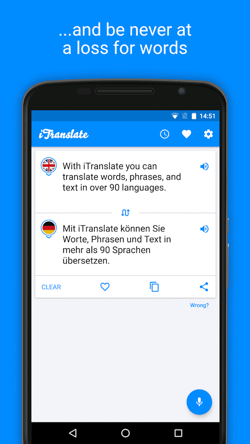 iTranslate Gratuit Traducteur – Capture d'écran