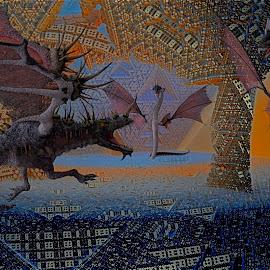 Battle In The Snake Pit  by Rick Eskridge - Illustration Cartoons & Characters ( mb3d, fractal, poser pro 2014, twisted brush )