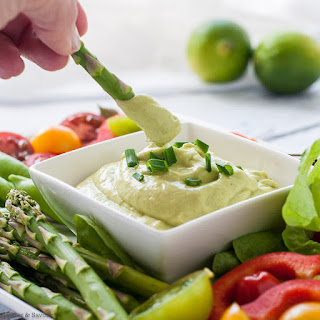 Mayo-Free Avocado Green Goddess Dressing.