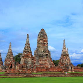 Ayutthaya Thailand by Premtawi Thinkfoto - Buildings & Architecture Public & Historical ( building, nature, architecture, travel, landscape )