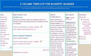 1main234 - 5 column template