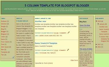 12main34 - 5 column template