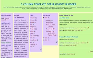 Simple Style 1 Blogger Template
