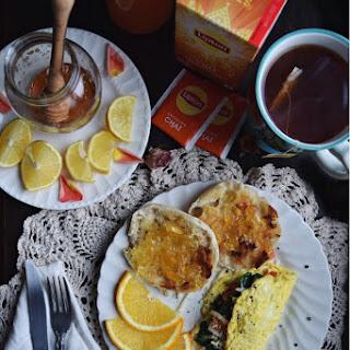 Spinach, Tomato and Mozzarella Omelette