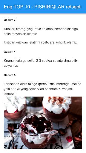 Pishiriqlar Retsepti Uzbek Tilida_TOP PiSHiRiQLaR 1.54 screenshots 2