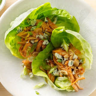 Slow-Cooker Buffalo Chicken Lettuce Wraps.