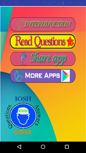 Screenshot for Safety IOSH-NEBOSH-OSHA Questions and Answers in United States Play Store