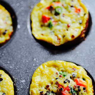 Spicy Mini Quinoa Frittatas with Queso Fresco.