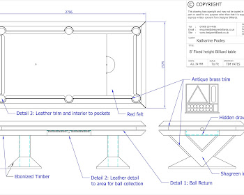 Pharaoh Pool Table CAD Drawing