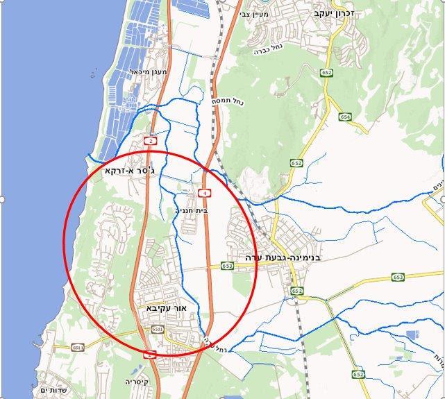 ניס שרידי אמות המים לקיסריה בין בנימינה ובין שפך נחל תנינים ובג'אסר א UA-39