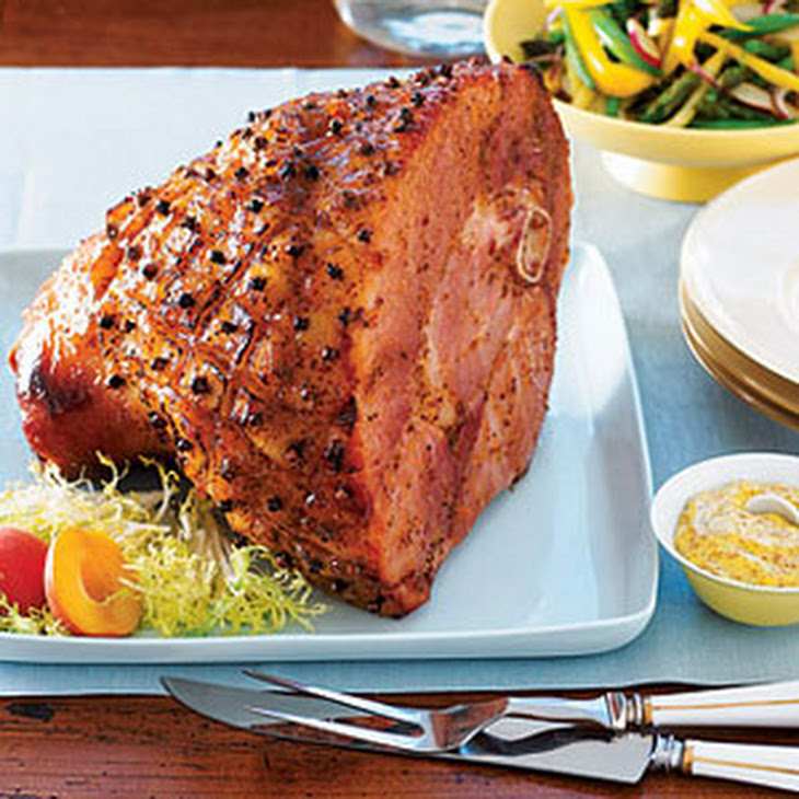 Apricot-Glazed Smoked Ham
