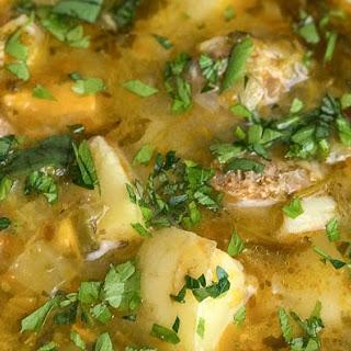 Instant Pot Potato Chorizo Soup.