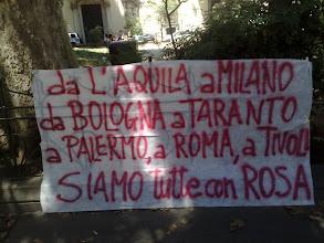 """Photo: al fianco di """"Rosa"""", per una nuova mobilitazione a L'Aquila in occasione dell'udienza di appello"""