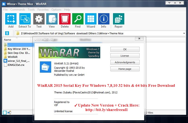 free download winrar for windows 7 64 bit full version with crack
