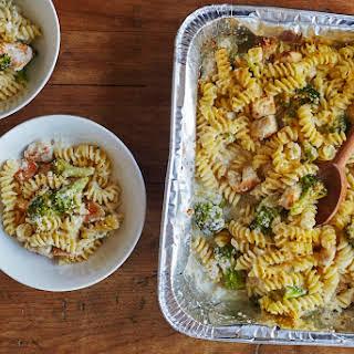 Freezer-to-Oven Chicken Alfredo Casserole.