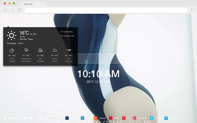 Cute pop cute HD wallpaper new tab page theme